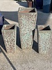 LAVA SLIM SQUARE LARGE PLANTER GLAZED IN BOILING AQUA