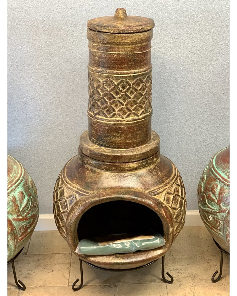 CHIMINEA HONEYCOMB WITH COVER RB