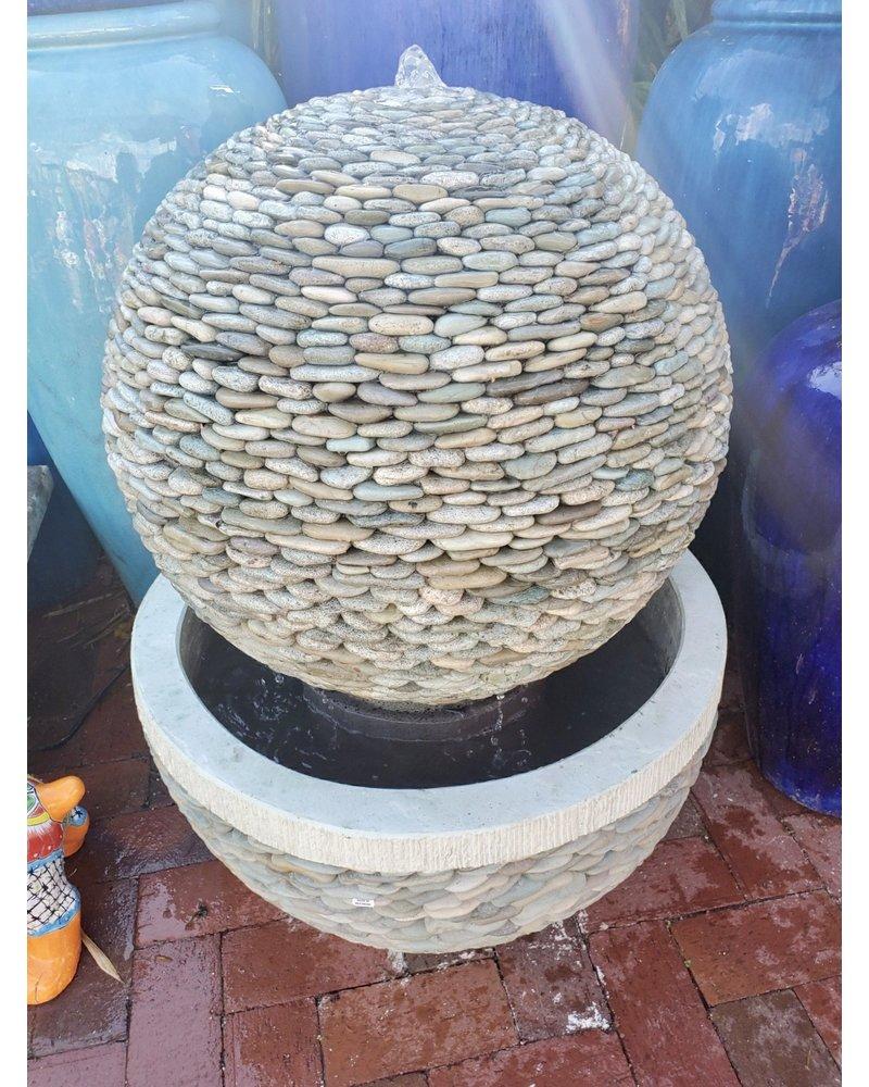 Pebble Sphere Fountain Jade