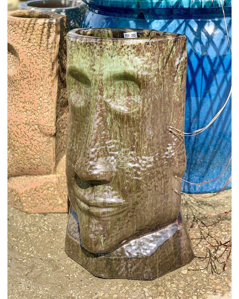 Rapa Nui Head Planter  Large AC