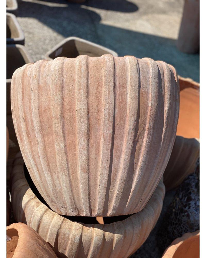 Terracotta Scalloped Decor Planter SM