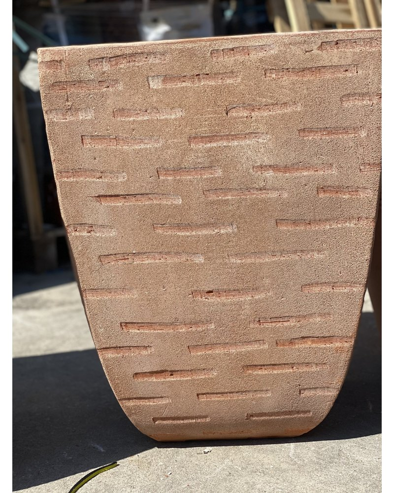 Terracotta Etched Milan Square Lg