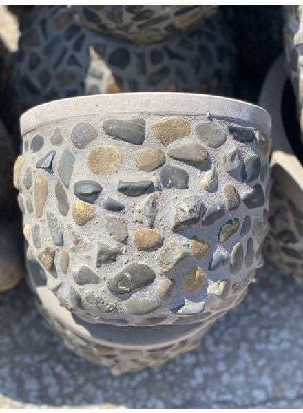 Fibercrete Rock Egg Planter Small
