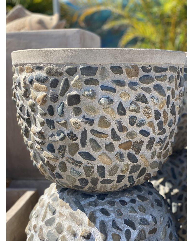 Fibercrete Rock Egg Planter Large