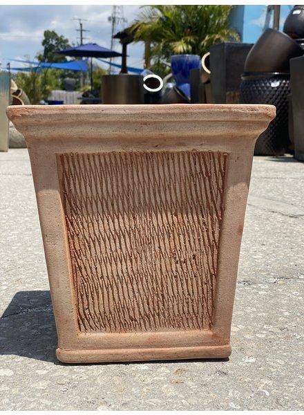 Terracotta Scraped Square Planter MD