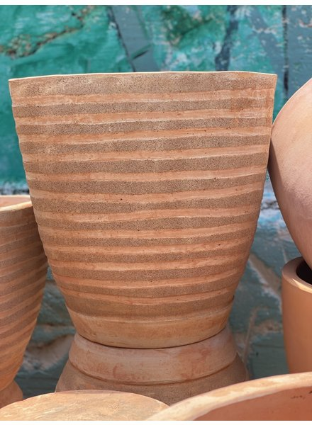 Terracotta Rounded Square with Thick Lines Large