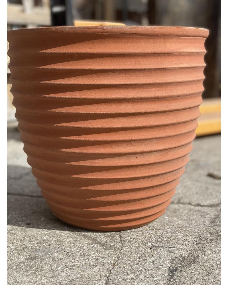 Terracotta Ribbed Egg Planter Lg