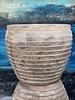 Terracotta Fishbowl Wave Planter Lg
