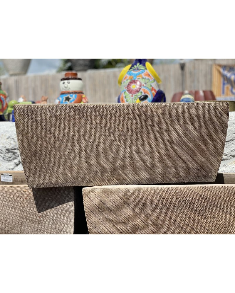 Terracotta Scraped Rectangle Large