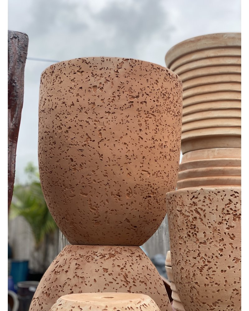 Terracotta Speckled Cylinder Lg
