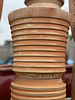 Terracotta Cylinder Planter with Thick Lines Medium