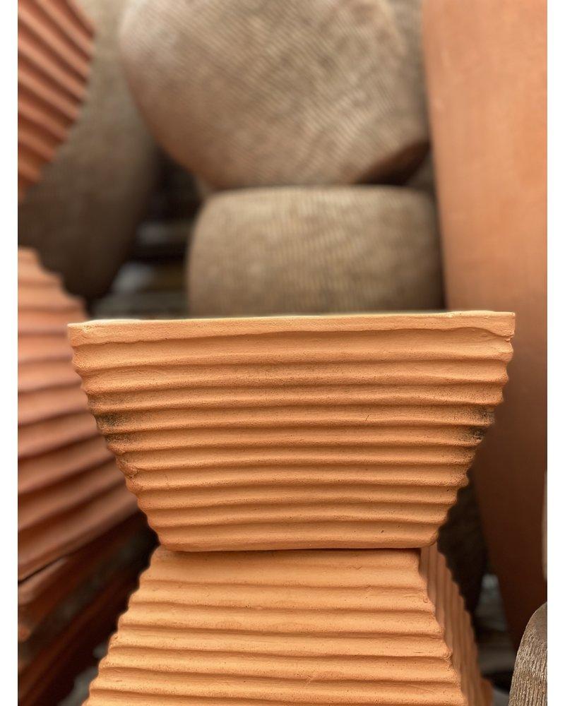 Terracotta Grooved Zen Square SM