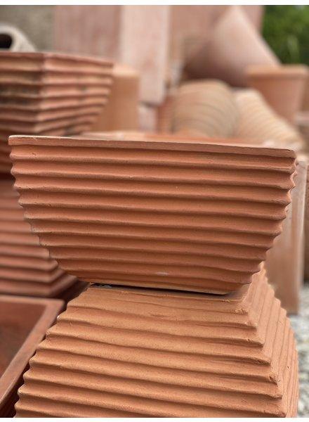 Terracotta Grooved Zen Square LG