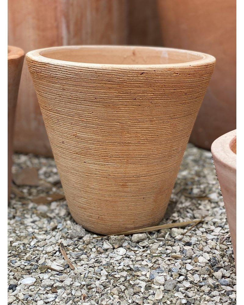 Terracotta Round Tapered Scraped Small