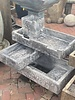 Stacked Rectangle Fountain with Lights 406lbs FM