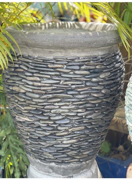 Pebble Rim Planter Natural Stone