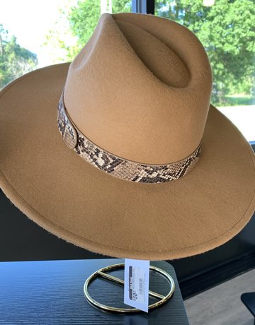 Fedora Wool Snake Trim