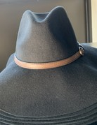 anzell Fedora Black with Belt Buckle detail