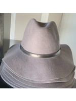 anzell Grey Fedora Hat with Belt Buckle Detail