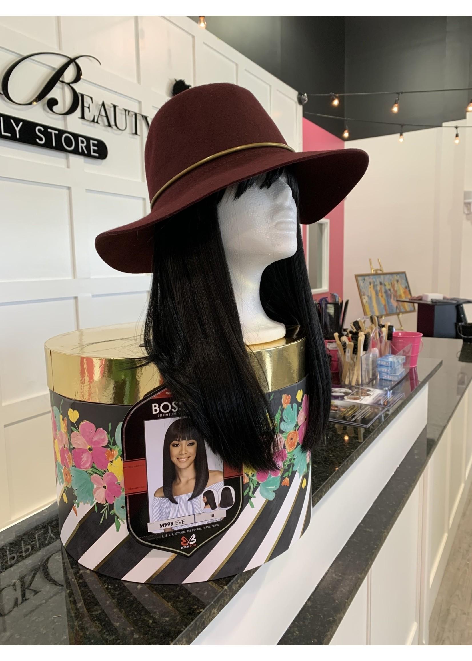 Burgundy Fedora Hat -Wool