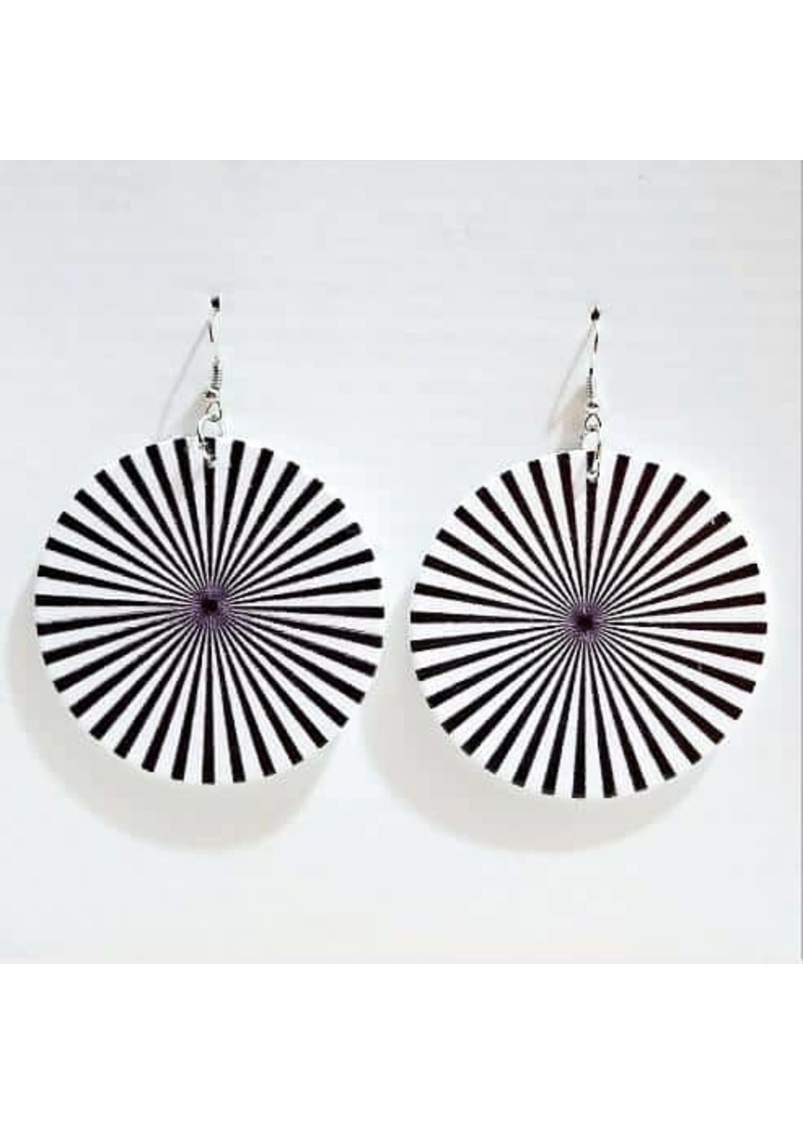 Black & White Rhombus Earrings