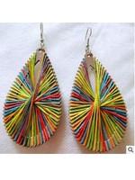 Vintage Drop Wooden Ethnic Style Earrings