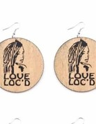 Wood African fashion Round-Love Loc'd