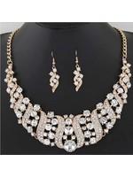 Set-Necklace & Earring Rhinestone
