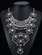 Vintage Silver Necklace-Statement