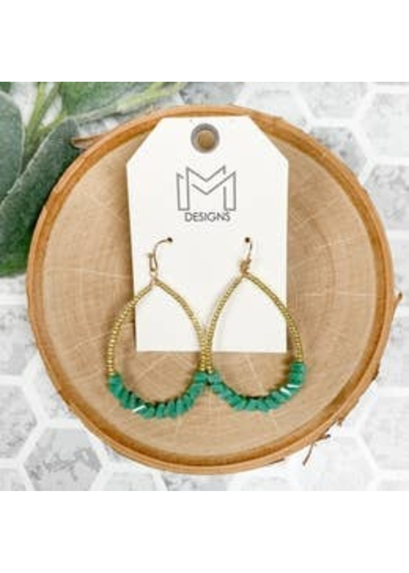 Mix Mercantile Designs Kassi Earrings-Turquoise