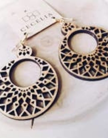 Cecelia Wooden Earrings