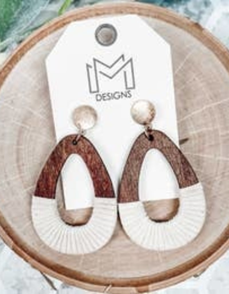 Mix Mercantile Designs Kennedy Earrings-Ivory