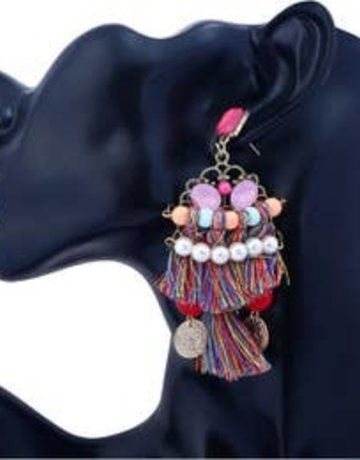 free wholesale Bohemia  Long Tribal Earrings