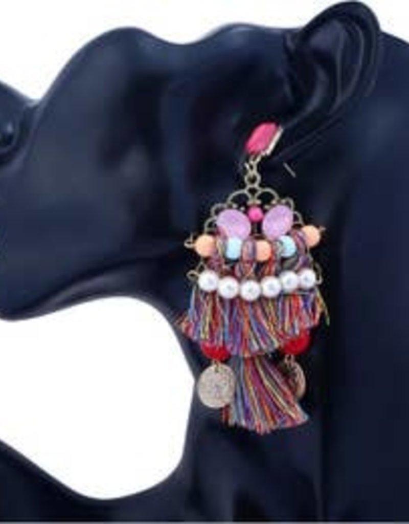 free wholesale Bohemia  Long Tribal Earrings