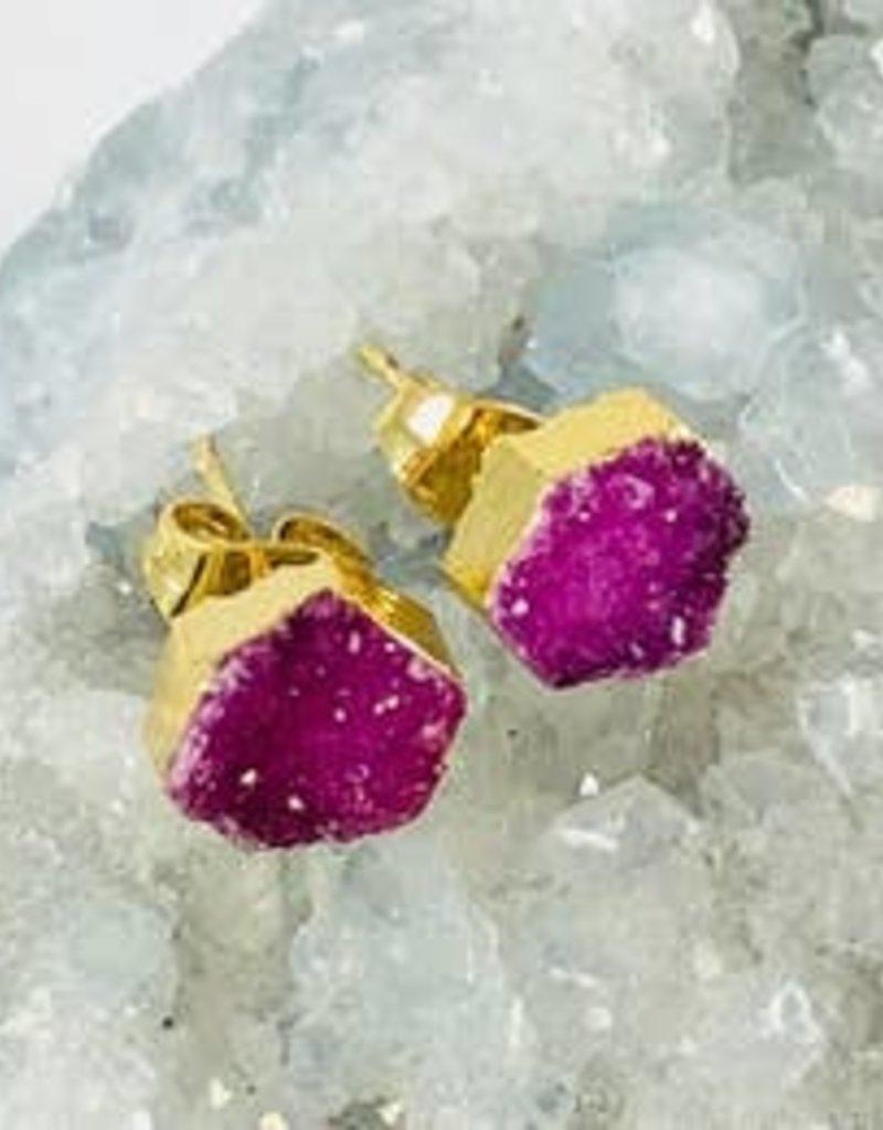 Hexagon Earrings-Sarah Belle