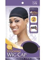 Stocking Wig Cap Black