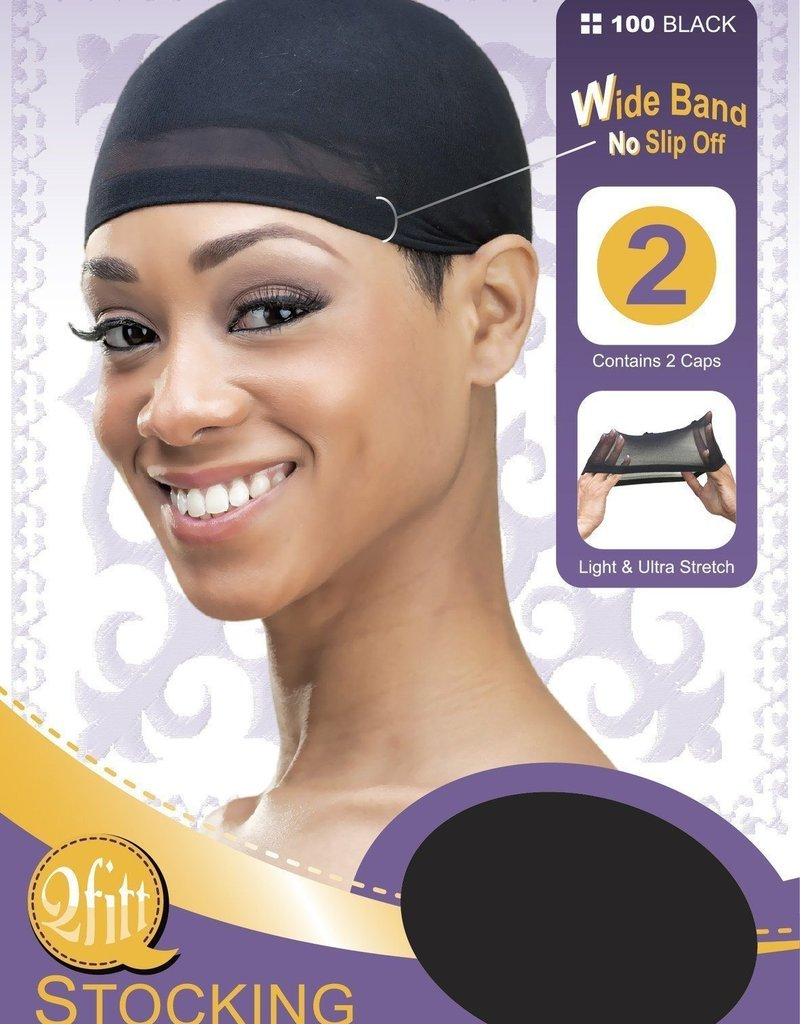 Stocking Wig Cap Black DZ