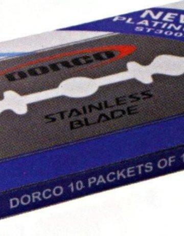 Dorco Double Edge Blades 10Pc (10Pk)-blue