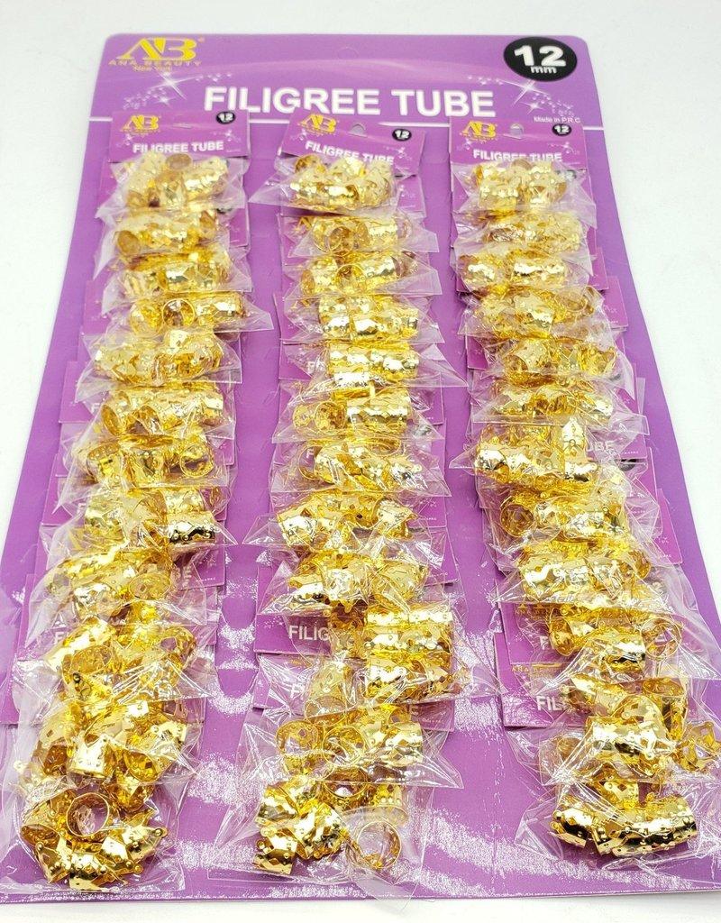 AB Gold Filigree Tube