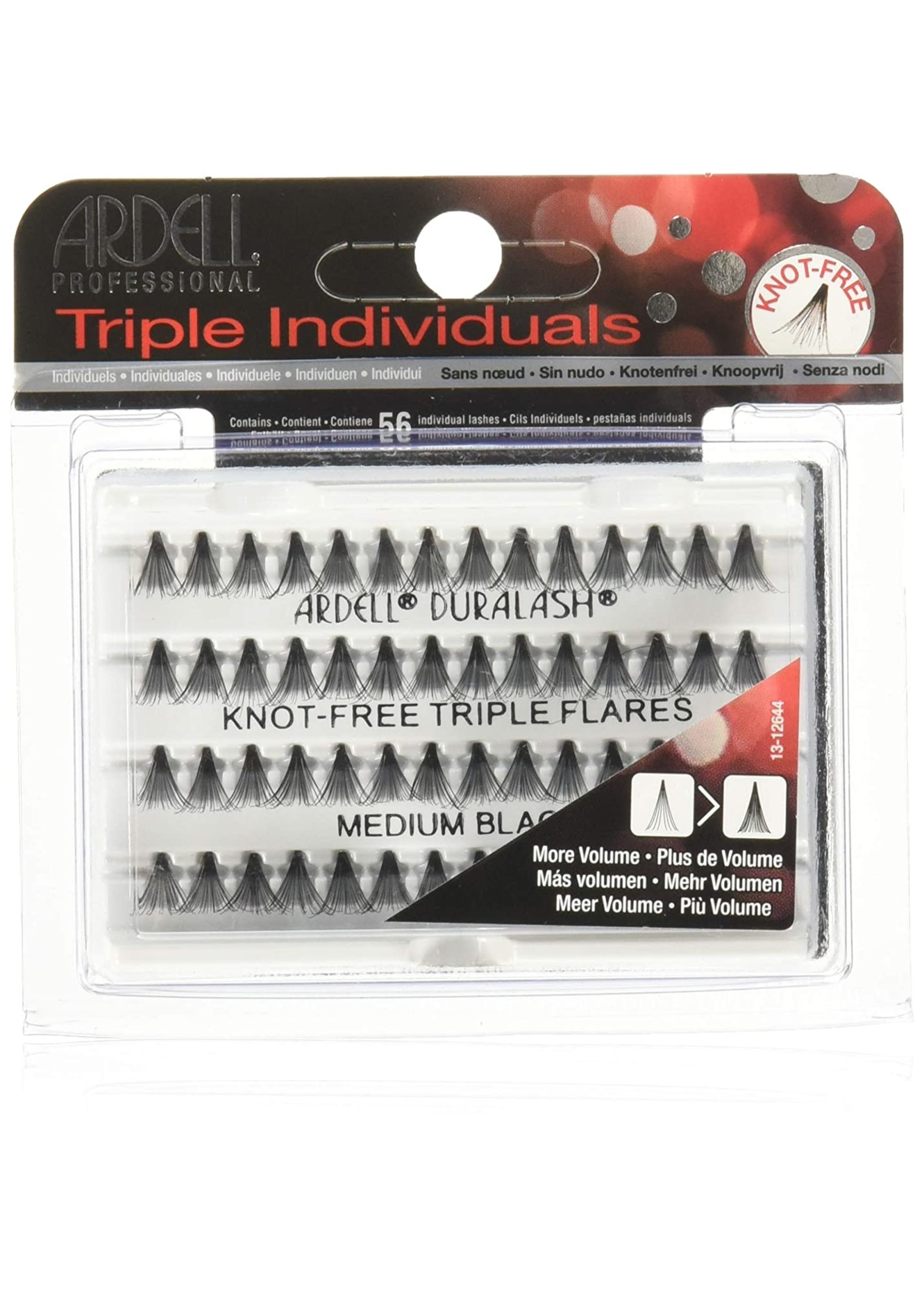 Ardell Indiv. Knot free Triple Flares Black