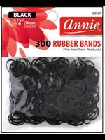 Annie Rubber Bands Black 300pc
