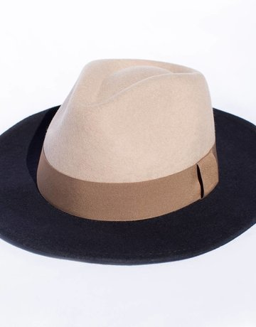 Tropicana Beige & Blue Retro Felt Hat