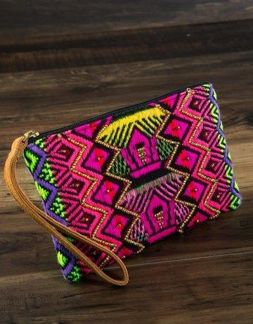 urbanista Handmade ethnic pattern Clutch Faux Leather