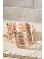 Multi layered glossy metal cuff adjustable Bracelet