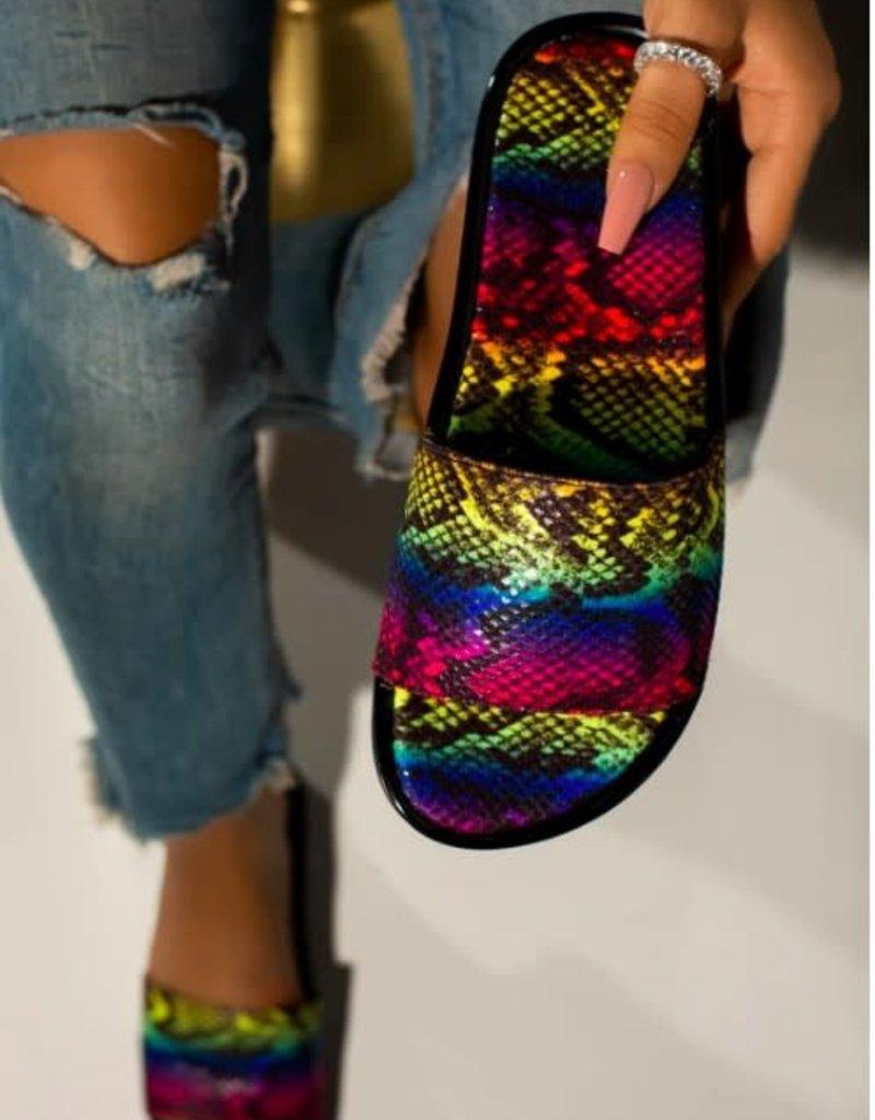 Multi-Snake Skin Sandal Slippers