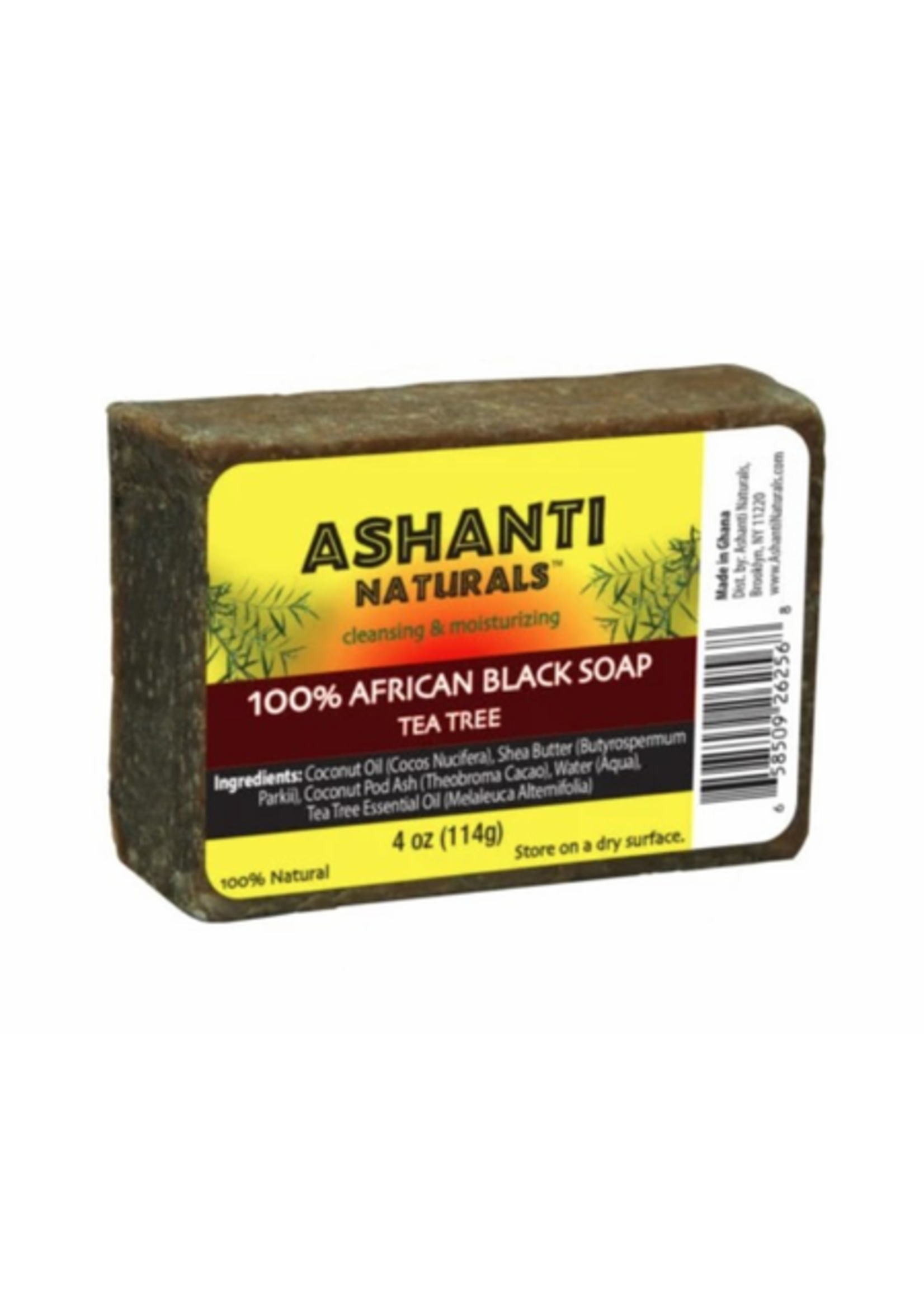 Ashanti African Black Soap Tea Tree