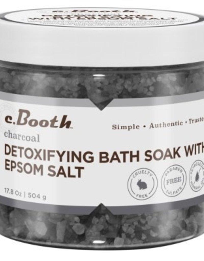 C.Booth Detoxifying Bath Soak W/ Epsom Salt 17.8oz(Charcoal)