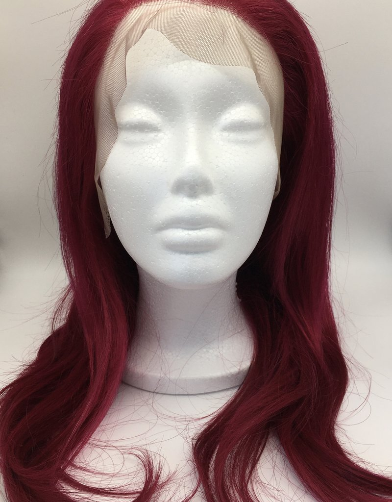 Lace Front Human Hair Wig 99J/Burgundy