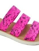 KayKay Neon Pink Slipper Sandal