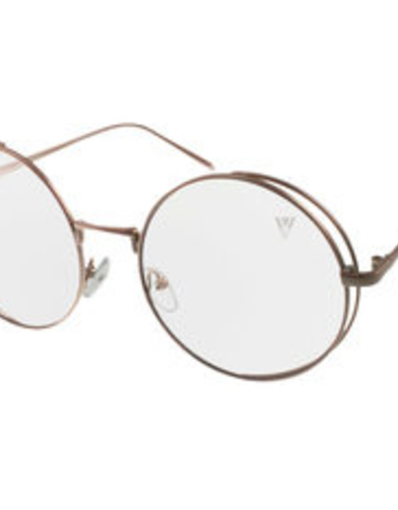 V by Vye Eyewear Red Women's Sunglasses Clear